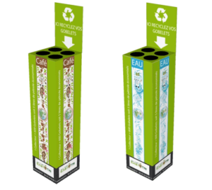 Recyclage gobelets plastics